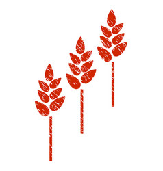 wheat plants icon grunge watermark vector image vector image