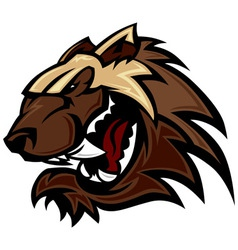 Wolverine Badger Mascot Head vector image