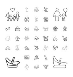 37 family icons vector