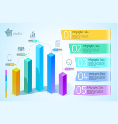abstract business chart infographics vector image