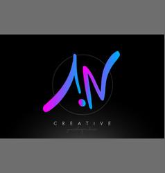 An artistic brush letter logo handwritten in vector