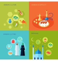 Arabic Culture Flat vector image