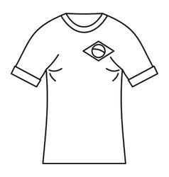 Brazilian football t shirt icon simple style vector image