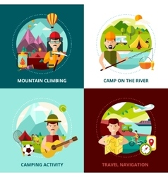 Camping Design Concept Banner vector image