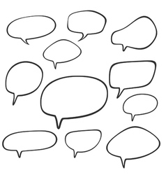 cartoon speech and thought bubbles vector image