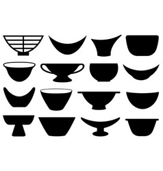 collection different bowls vector image