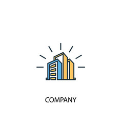 company concept 2 colored line icon simple yellow vector image