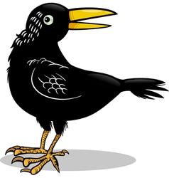 crow or raven bird cartoon vector image