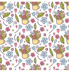 cute floral pattern in the small flower ditsy vector image