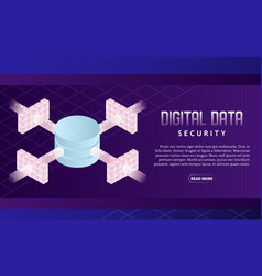 data security isometric vector image