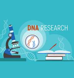 dna research concept banner flat style vector image