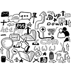 doodle web elements vector image