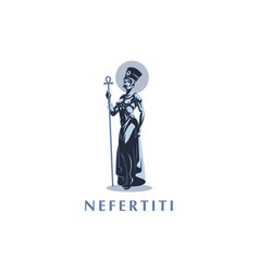 egyptian queen nefertiti or cleopatra vector image