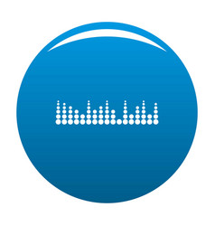 Equalizer musical radio icon blue vector