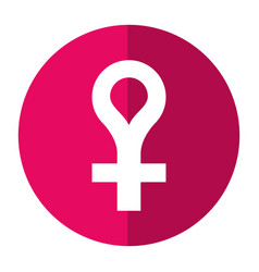 female gender symbol icon shadow vector image