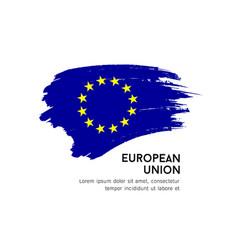 flag european union eu brush stroke vector image