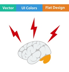 Flat design icon of Brainstorm vector