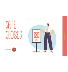 flight late trouble in airport landing page vector image