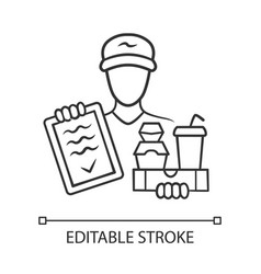 food delivery linear icon express courier service vector image