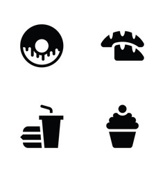Food glyph icons vector