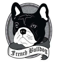 French Bulldog Portrait Isolated dog vector