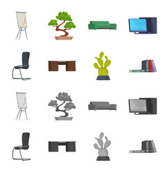 furniture and work logo vector image