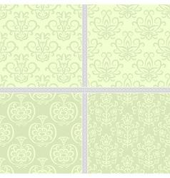 Green pastel summer seamless pattern vector image