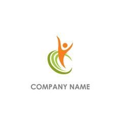 happy man active winner logo vector image
