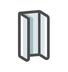 Hot rolled steel u profile icon cartoon vector