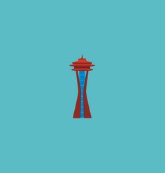 Icon flat space needle element vector
