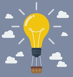 Idea lightbulb balloon vector