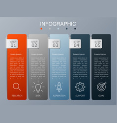 Infographics design and marketing icons modern vector