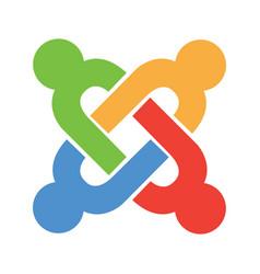 joomla emblem vector image