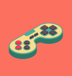 Joystick retro isometry isolated gamepad game vector