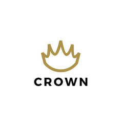 king crown outline logo icon vector image