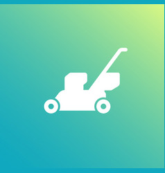 lawn mower white icon vector image