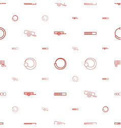 Loading icons pattern seamless white background vector