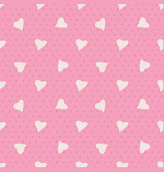 lovely seamless pattern with random heart vector image