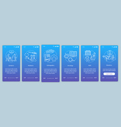 Medical center onboarding mobile app page screen vector