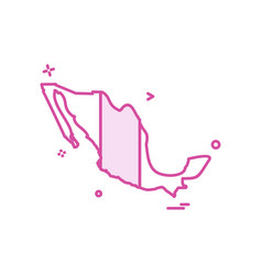 Mexico map icon design vector