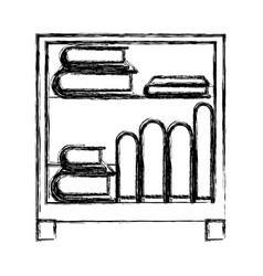 monochrome blurred silhouette of decorative vector image