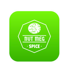 nutmeg icon green vector image