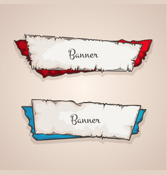 old banners collection vector image