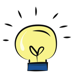 painting a lightbulb or color vector image