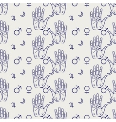 Palmistry seamless pattern vector