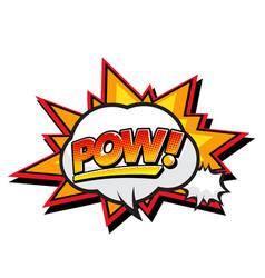 pop art orange pow bubble image vector image