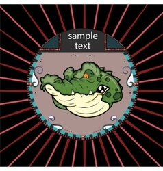 Portrait of alligator in a circle vector