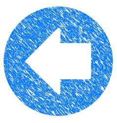 previous arrow grunge icon vector image