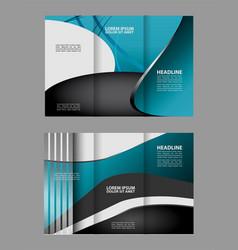 Red and black tri-fold brochure design temp vector