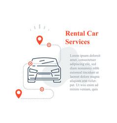 Rental car services concept share auto transport vector
